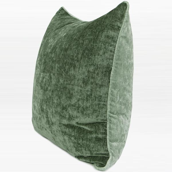 "Green and Light Green Two Side Solid Color flannel Pillow 20""X20"" - G Home Collection"
