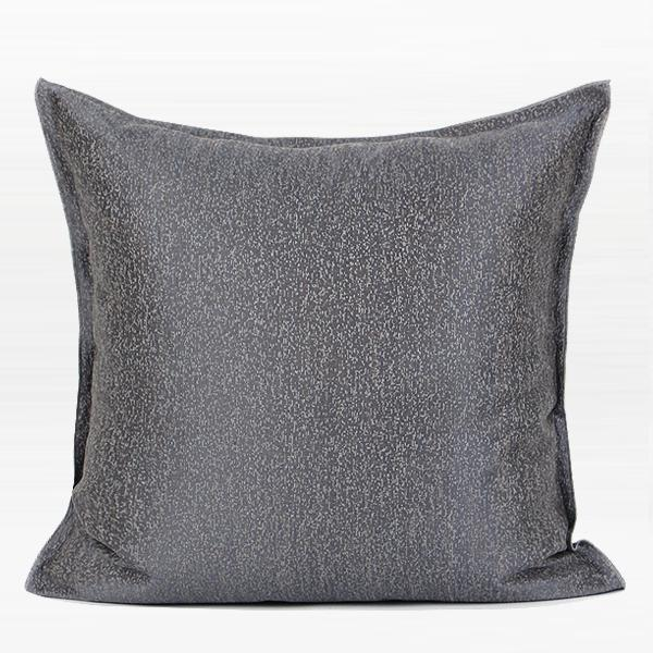 "Gray Solid Color Chenille Pillow 20""X20"" - G Home Collection"
