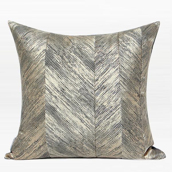 "Gold and Black Thin Stripe Pillow 20""X20"" - G Home Collection"