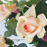Real Touch 2 Rose Bloom Stem in Champagne Color 37