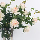 Real Touch 2 Rose Bloom Stem in  Pink White 37