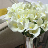 Real Touch 9 Calla Lily Bouquet in White 13