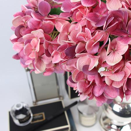 "Real Touch Hydrangea Stem in Pink 24"" Tall"