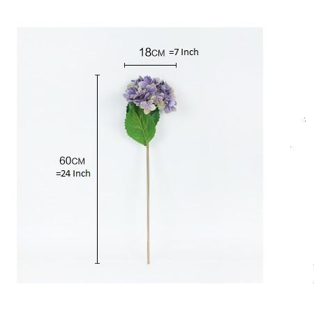 "Real Touch Hydrangea Stem in Purple 24"" Tall - G Home Collection"