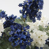 Silk 7 Small Hydrangea Bloom Bush in Blue and White 19