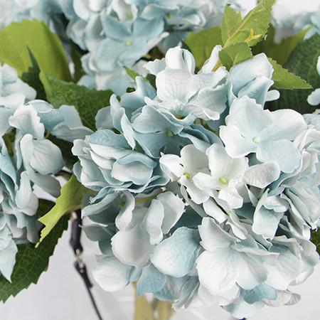 "Silk Hydrangea Stem in Light Blue 18"" Tall - G Home Collection"