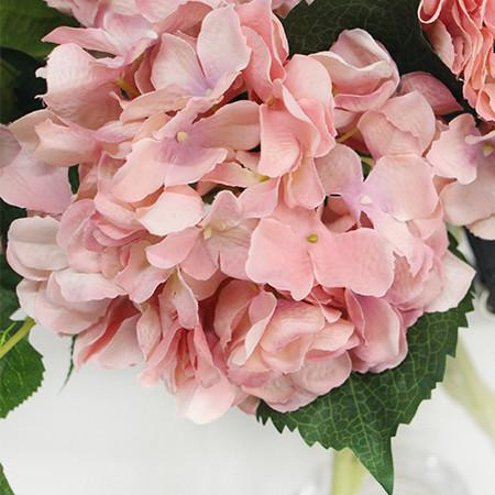 "Silk Hydrangea Stem in Light Pink 18"" Tall - G Home Collection"