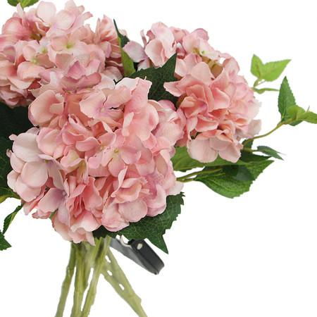 Silk Hydrangea Stem In Light Pink 18 Quot Tall G Home Collection