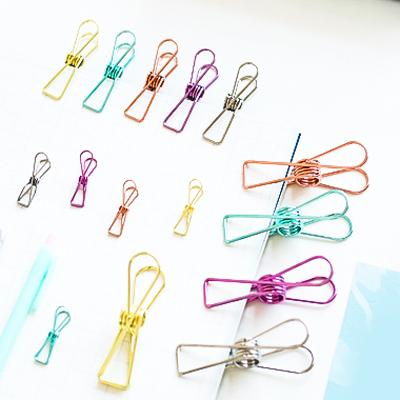 Colorful Fish Tail Binder Clips Randomly Picked Set of 9 - G Home Collection