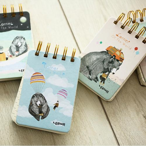 Adorable Bear Theme Memo Pad Randomly Picked Set of 5 - G Home Collection