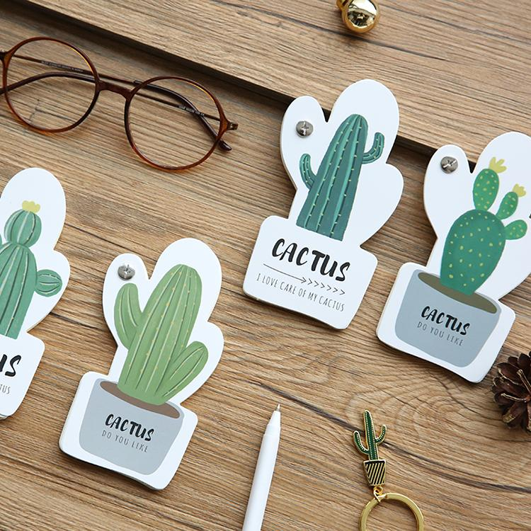 Small Cactus Memo Pad Randomly Picked Set of 8 - G Home Collection