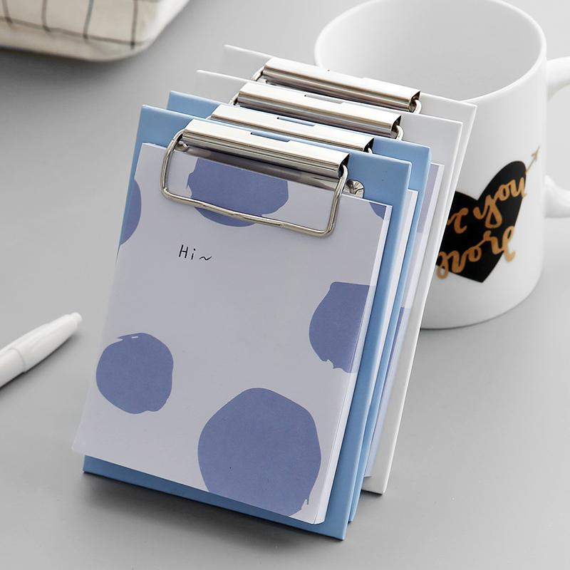 Clipboard Blue Pattern Memo Pad Randomly Picked Set of 3 - G Home Collection