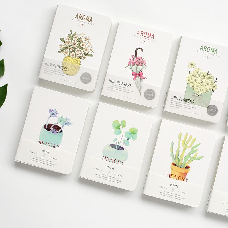 Floral Plant Cover Small Journal Randomly Picked Set of 3 - G Home Collection
