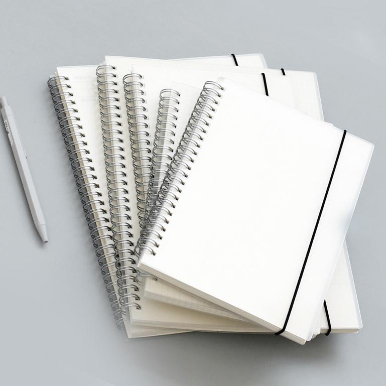Plastic Cover Spiral Notebook A5 Set of 3 - G Home Collection