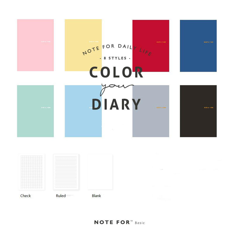 Solid Color Small Notebook Randomly Picked Set of 5 - G Home Collection