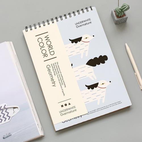 Animal Cover A4 Blank Page Drawing Sketch Book Randomly Picked Set of 2 - G Home Collection