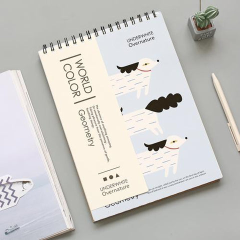 Animal Cover A4 Blank Page Drawing Sketch Book Randomly Picked Set of 2
