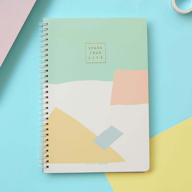 Colorful Geometric Spiral Memo Book Randomly Picked Set of 3 - G Home Collection