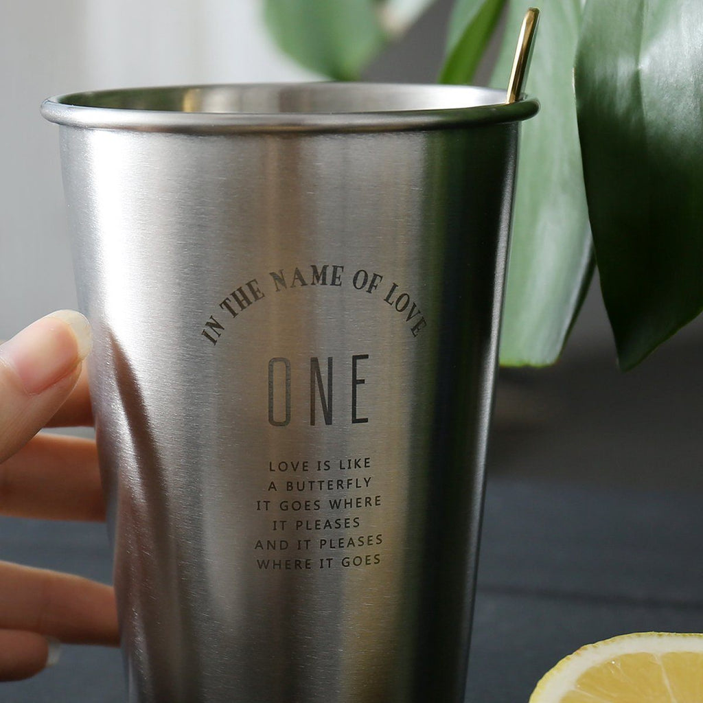 The One Stainless Cup and Tray - G Home Collection