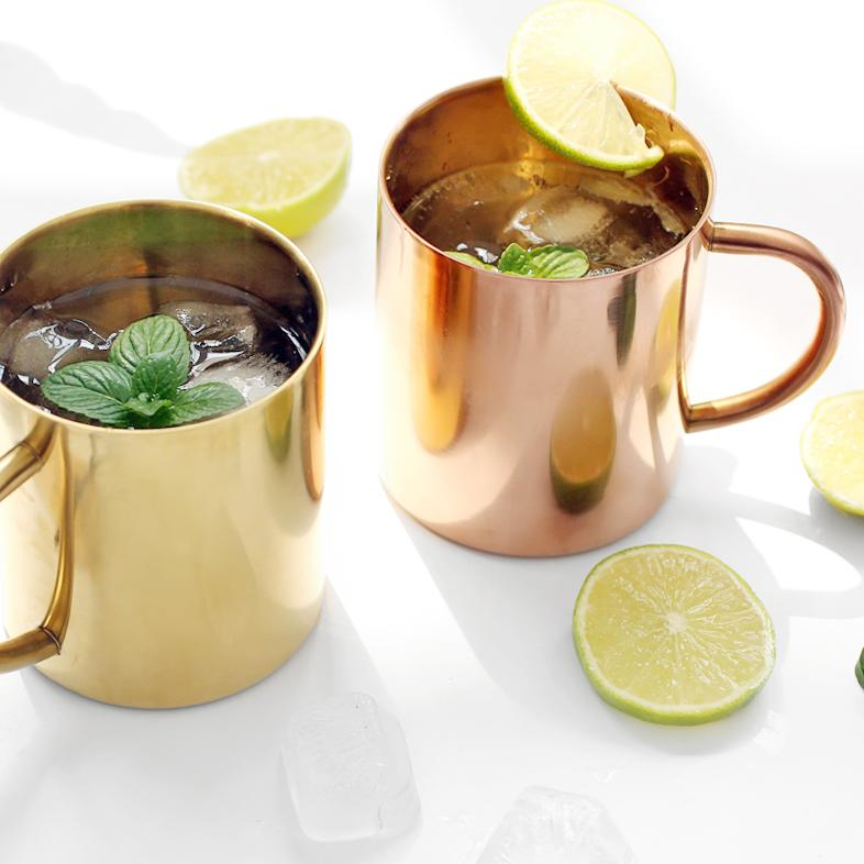 Moscow Mule Summer Mug Cup Set of 2 - G Home Collection