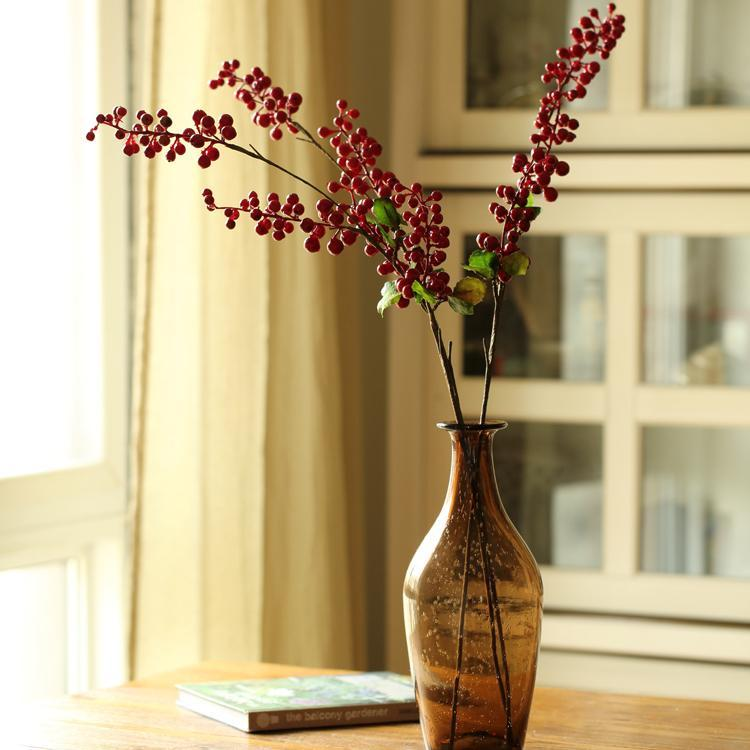 "Artificial Berry Stems in Various Colors 31"" Tall - G Home Collection"