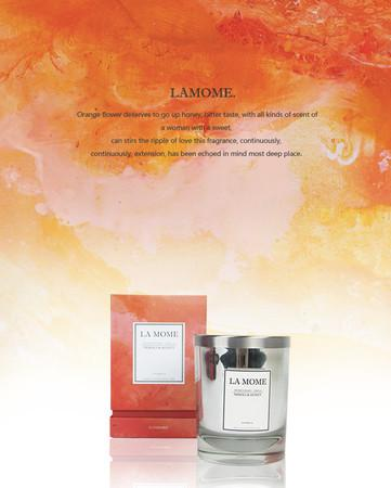 La Mome Neroli and Honey Soy Wax Scented Candle - G Home Collection