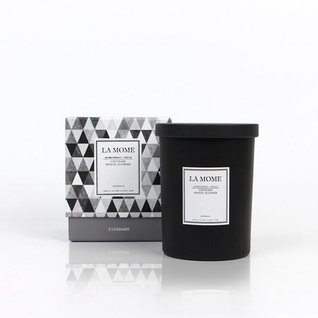 La Mome Vietnam White Florwer Soy Wax Scented Candle - Gentille Home Collection - 1