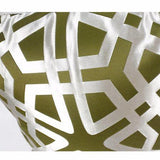 Green Geometry Pattern Pillow 20