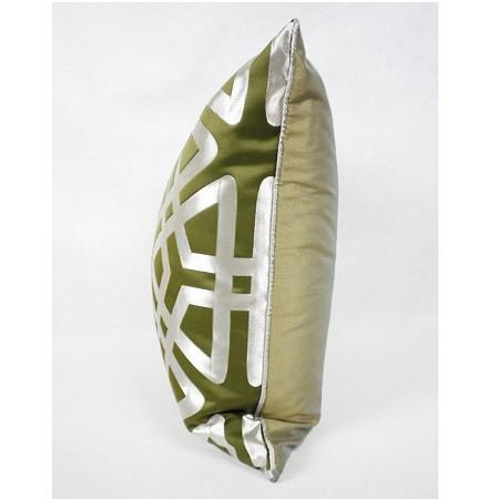 "Green Geometry Pattern Pillow 20""X20"""