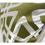 Green Geometry Pattern Pillow 14