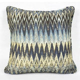 Blue Big Chevron Pattern Pillow 18