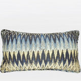 Blue Big Chevron Pattern Pillow 12