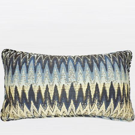 "Blue Big Chevron Pattern Pillow 12""X20"""