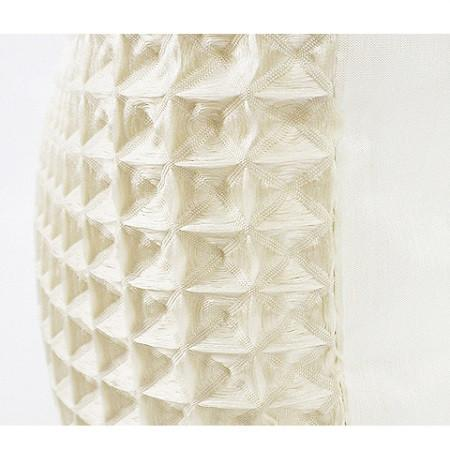 "Beige Textured Checkered Pillow 12""X22"" - G Home Collection"