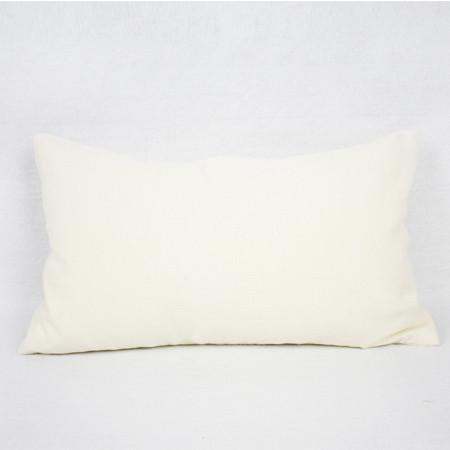 "Cream Color Round Shell Pillow 12""X20"" - G Home Collection"