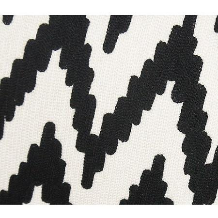 "Black And White Big Chevron Pattern Throw Pillow 20""X20"" - G Home Collection"