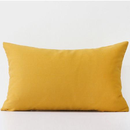 "Yellow Diamond Embroidered Pillow 12""X20"" - G Home Collection"