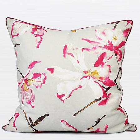 "Rose Flower Printing Pillow 20""X20"" - Gentille Home Collection - 1"