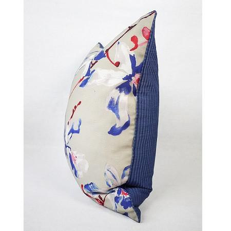 "Blue Flower Printing Pillow 20""X20"" - G Home Collection"