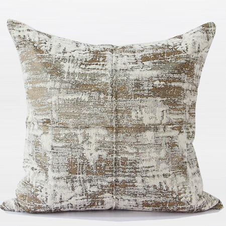 "Light Gold Mix Color Metallic Chenille Pillow 22""X22"" - Gentille Home Collection - 1"
