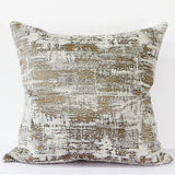 Light Gold Mix Color Metallic Chenille Pillow 22