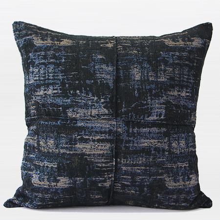 "Blue Mix Color Metallic Chenille Pillow 22""X22"""