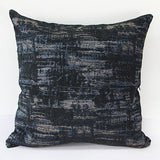 Blue Mix Color Metallic Chenille Pillow 22
