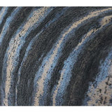 Blue Mix Color Stripe Pattern Metallic Chenille Pillow 14