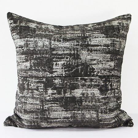 "Charcoal Mix Color Metallic Chenille Pillow  22""X22"" - G Home Collection"