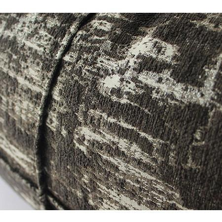 "Charcoal Mix Color Metallic Chenille Pillow 14""X20"" - G Home Collection"