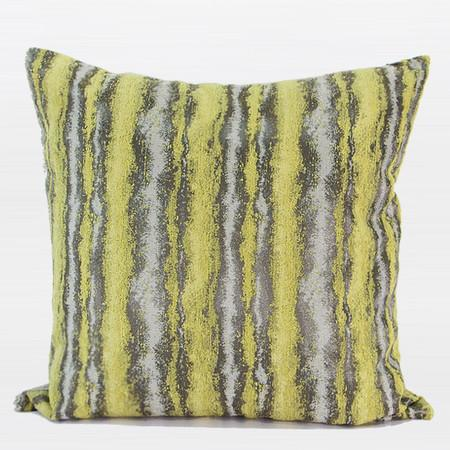 "Lemon Yellow Mix Color Metallic Chenille Pillow 14""X20"""