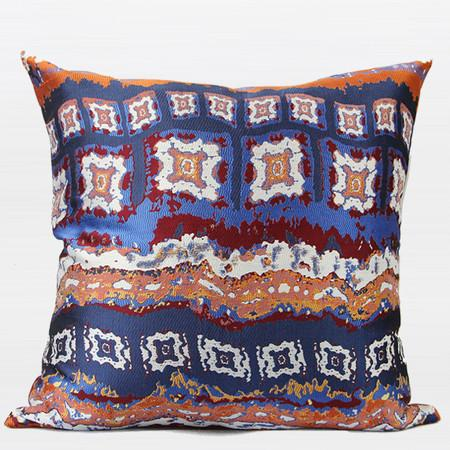 "Tangerine Tribe Pattern Jacquard Pillow 20""X20"" - Gentille Home Collection - 1"