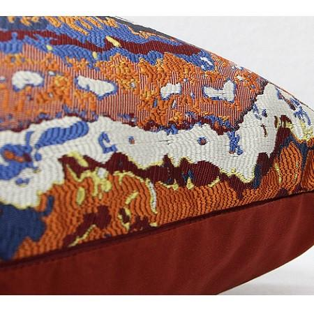 "Tangerine Tribe Pattern Jacquard Pillow 20""X20"" - G Home Collection"