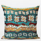 Green Tribe Pattern Jacquard Pillow 20